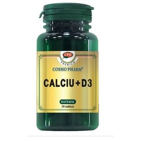 Cosmo Pharm - Calciu + Vitamina D3 din cochilii de stridii, 30 tablete