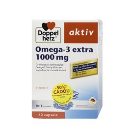 Doppleherz Aktiv Omega 3 extra 1000 mg promotie 180 comprimate