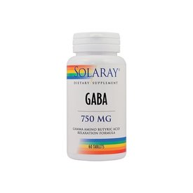 GABA, 750 mg, 60 tablete