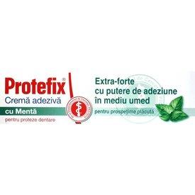 Protefix Extra-forte cu Mentă, Cremă adezivă pentru proteze dentare 47gr