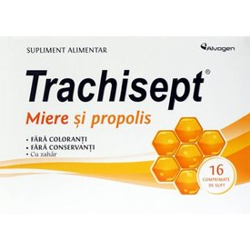 Trachisept Miere și Propolis 16 comprimate de supt