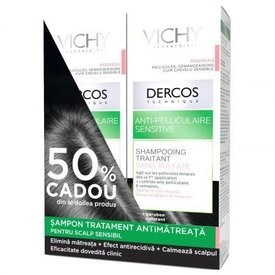 Vichy Dercos Sampon Antimatreata Scalp Sensibil 2 x 200 ml