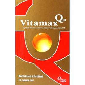 Vitamax Q10 Revitalizant şi fortifiant 15 capsule+15 capsule moi