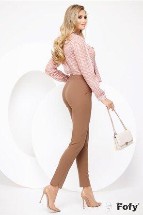 Bluza Fofy roz pastel din voal delicat cu fir din lurex