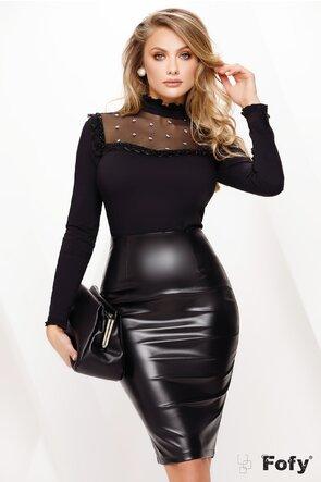 Camașă Fofy dama neagra cu platca brodata