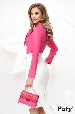Camasa Fofy eleganta ciclame cu funda maxi si accesoriu inclus