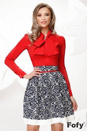 Camasa Fofy rosie cu funda maxi si accesoriu inclus