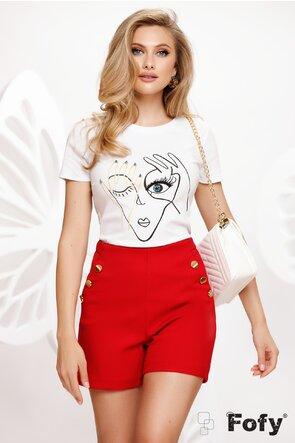 Tricou dama alb imprimeu in tendinte 2021