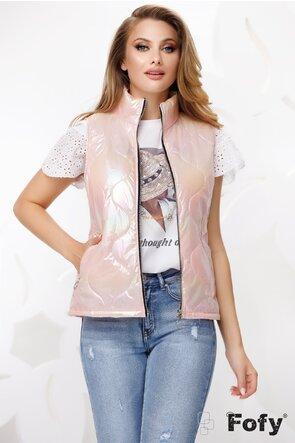 Vesta dama roz cu efect holografic