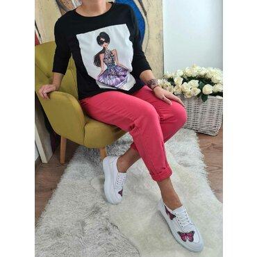 Bluza neagra sport casual Katy