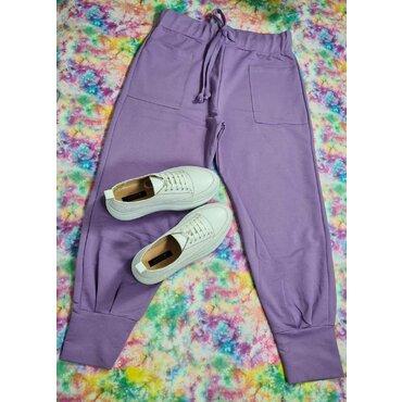 Pantaloni mov casual dama Roxi