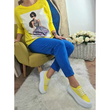 Pantaloni sport casuala albastri Arina