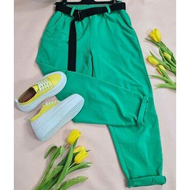 Pantaloni sport casuala verzi Arina
