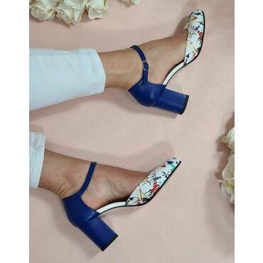 Pantofi albastri cu imprieu Valeria