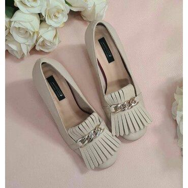 Pantofi bej din piele naturala Amalia