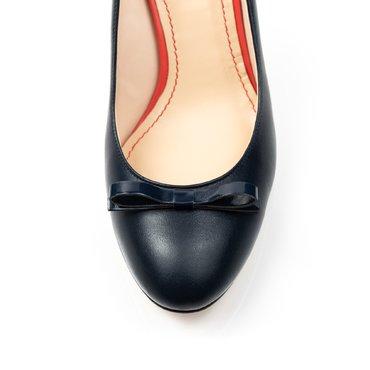 Pantofi bleumarin mat din piele naturala Merci