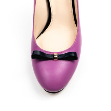 Pantofi ciclam din piele naturala Merci