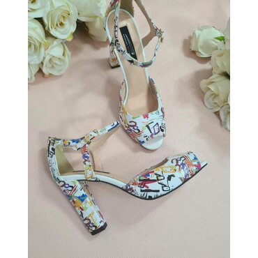 Pantofi color din piele naturala Iris