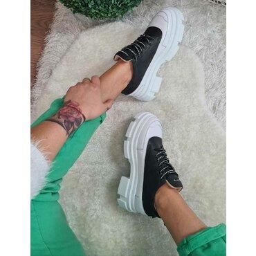 Pantofi dama alb cu negru Dalma