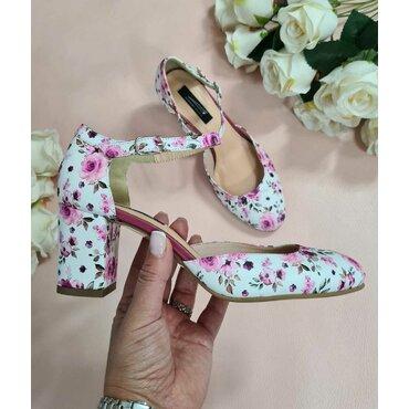 Pantofi dama imprimeu roz Valeria