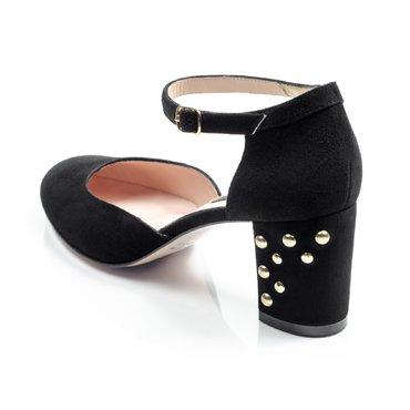 Pantofi dama piele intoarsa neagra Valeria