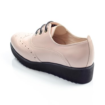 Pantofi de dama piele roz Young Oxford