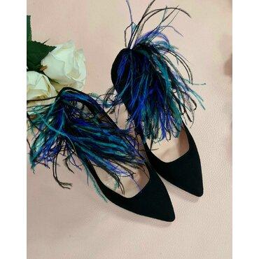 Pantofi din piele naturala neagraL L2580