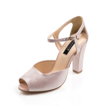 Pantofi din piele naturala roz sidefat  Iris