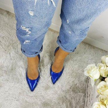 Pantofi eleganti albastru electric Eva
