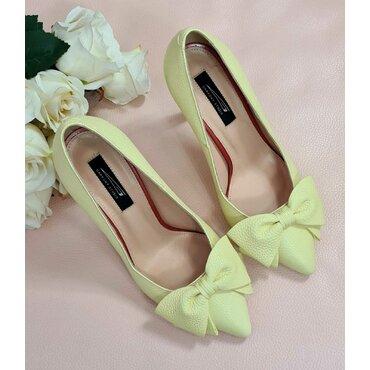 Pantofi galbeni din piele naturala Trend Lady