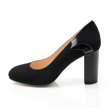 Pantofi negrii din piele intoarsa Zelma