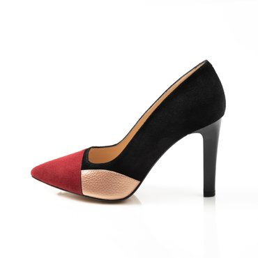 Pantofi negrii din piele naturala Violeta
