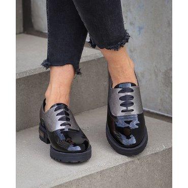 Pantofi oxford negri Young S