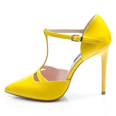 Pantofi piele galbena Ofelia