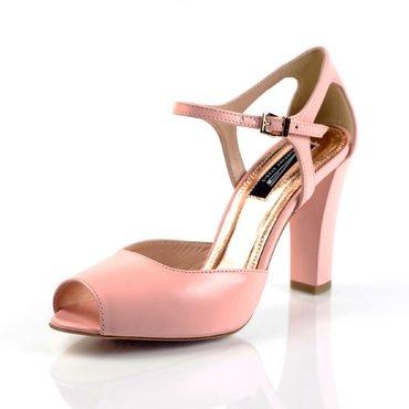 Pantofi piele roz cuartz Iris