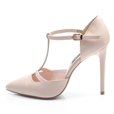 Pantofi piele roz pudra Ofelia