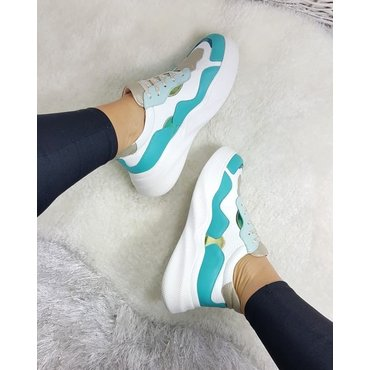 Pantofi sport din piele naturala Sindy Acqua 6012