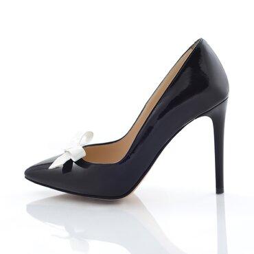 Pantofi stiletto negri Trend cu funda