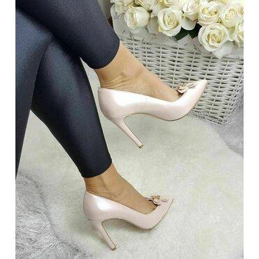 Pantofi stiletto nud roze Loren