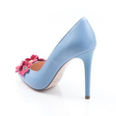 Pantofi stiletto piele bleu trend Spring