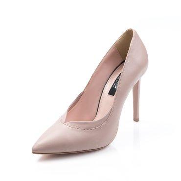 Pantofi stiletto piele crem Verona