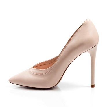 Pantofi stiletto piele roz pudra Verona