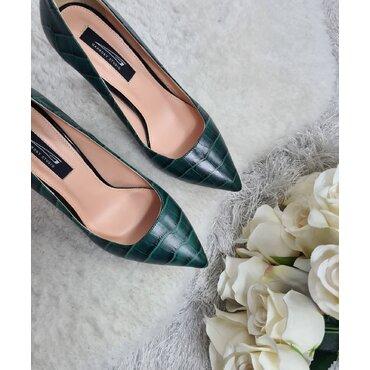 Pantofi stiletto verzi Trend