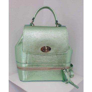 Rucsac elegant piele verde sidef Ema