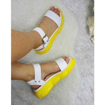Sandale de dama albe Almina