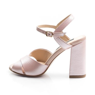 Sandale de dama piele roz sidefat Ania