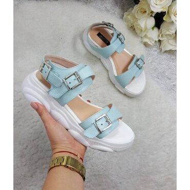 Sandale de dama turcoaz Debra