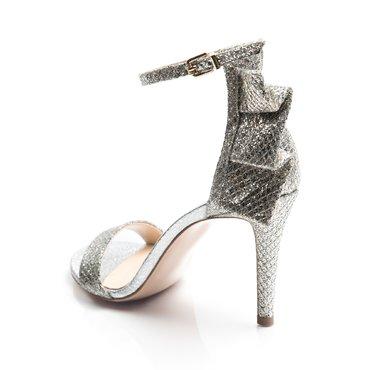 Sandale de ocazie glitter argintiu Volare