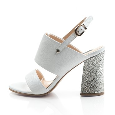 Sandale piele alba Loca