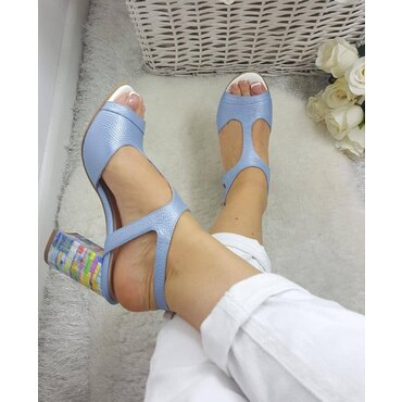 Sandale piele naturala bleo  Berta